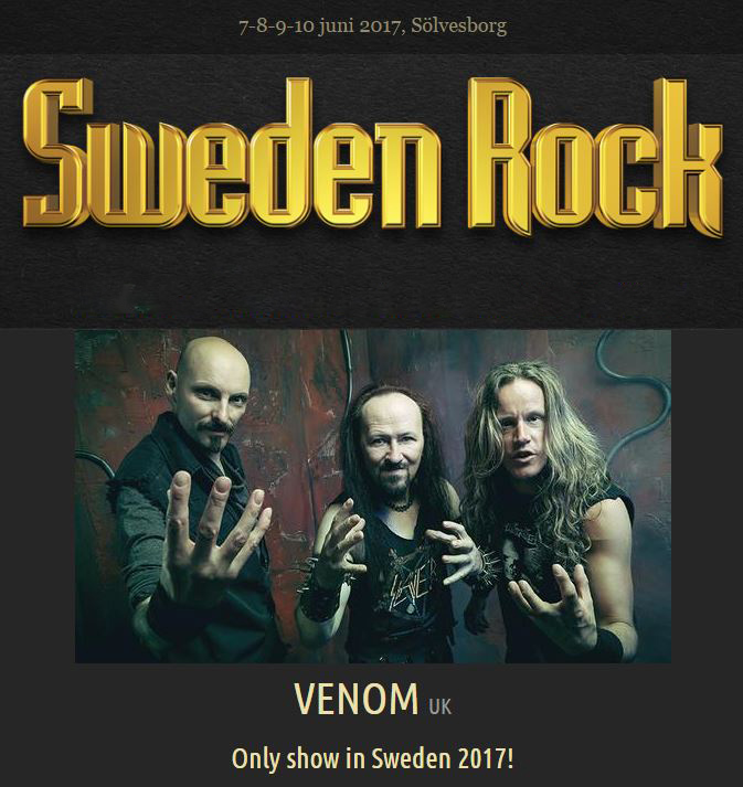 Venom black metal sweden rock festival 2017