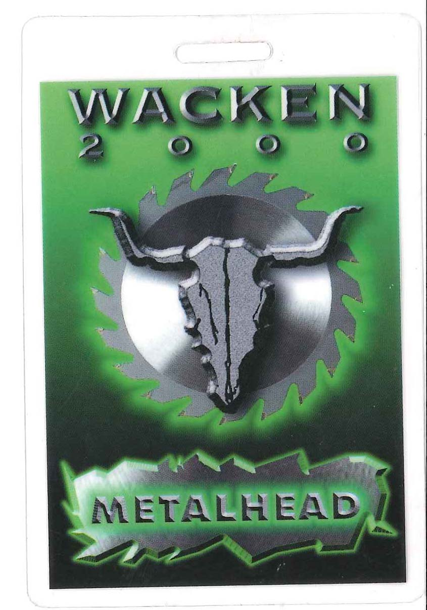 venom black metal WACKEN 200 PASS