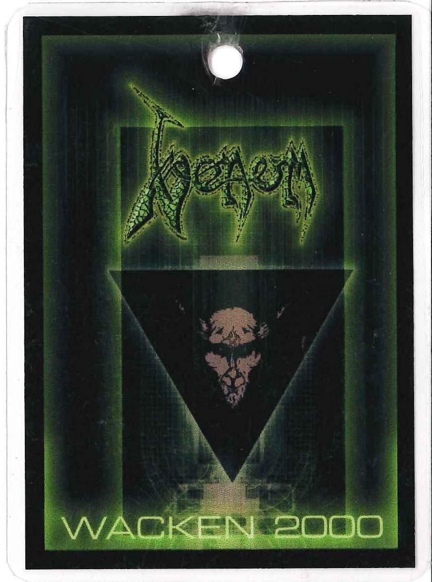 venom black metal WACKEN PASSES 2000