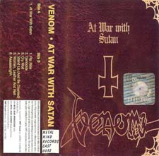 Venom Tapes aw war with satan poland cassette