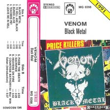 Venom black metal tape cassette rare