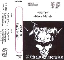 Venom black metal tape rare cassette