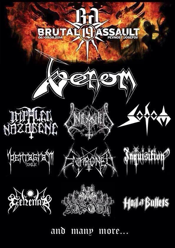 Venom black metal brutal assault poster 2014