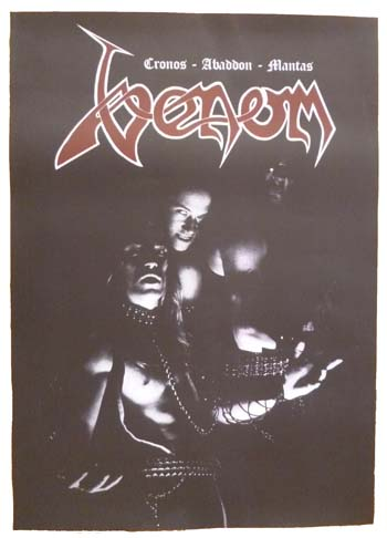 venom black metal classic line-up poster