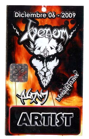 venom black metal columbia tour pass 2009
