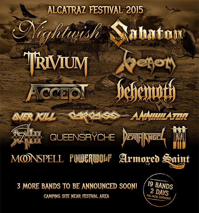 Venom summer gigs 2015 black metal alcatraz belgium