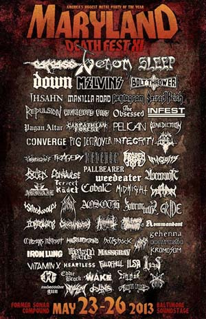 Maryland Deathfest 2013 Venom Black Metal Poster