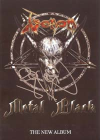 venom metal black postcard
