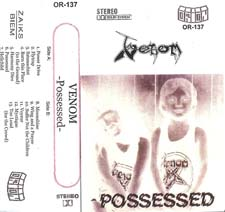 Venom Tapes possessed poland pressing rare