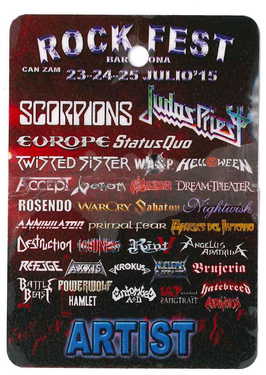 venom rock fest tour pass 2015