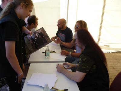 Signing session Getaway Festival 2012 Venom