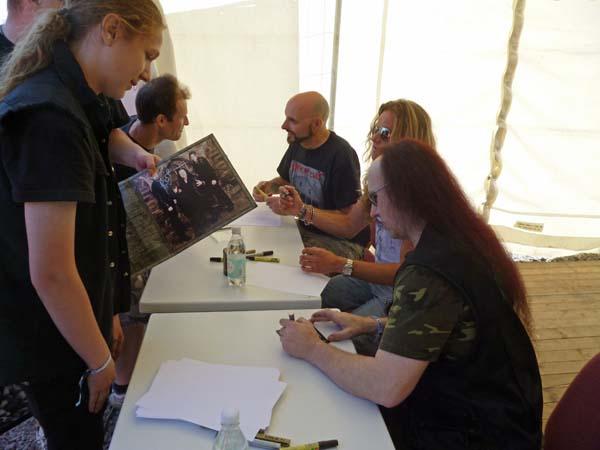 Signing session Getaway Festival Venom 2012