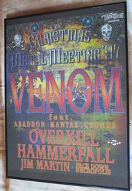 venom 1997 tour poster rare