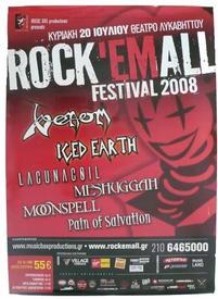 venom greece 2008 concert poster athen