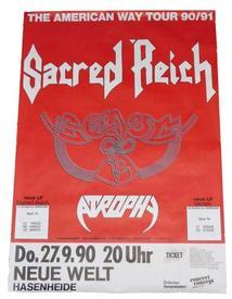 venom poster 1990 tour