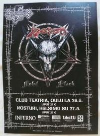 venom helsinki poster 2007 tour