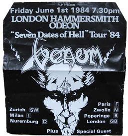 venom hammersmith 1984 poster