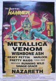 venom lorely 1985 poster metallica