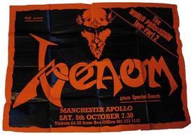 venom manchester 1985 poster