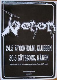venom 2007 tour poster