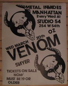 venom studio 54 poster 1985