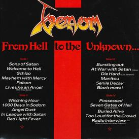 venom from hell to the unknown rare