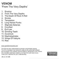 Venom From The Very Depths Album promo cd
