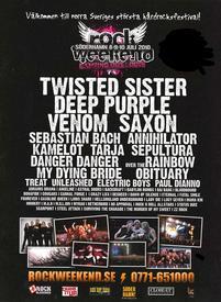 venom black metal rockweekend festival poster 2010