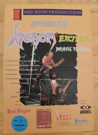 venom brazil 1986 tour poster