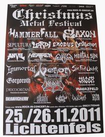 venom christmas metal festival poster 2011