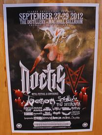 venom black metal noctis festival poster 2012