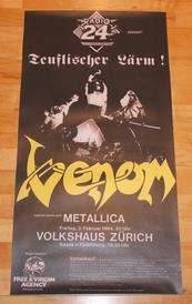 venom  zurich 1984 poster metallica