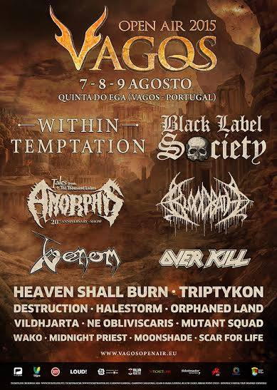 Venom summer gigs 2015 black metal vagos portugal