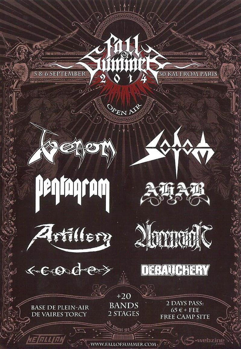 venom black metal fall of summer flyer 2014