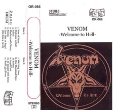 Venom welcome to hell tape