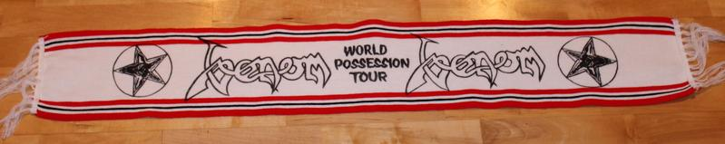 venom black metal world possession tour scarf 1985