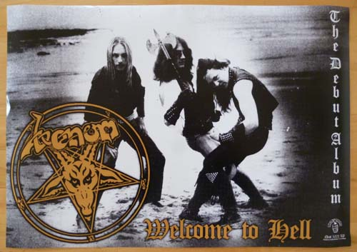 venom black metal welcome to hell poster