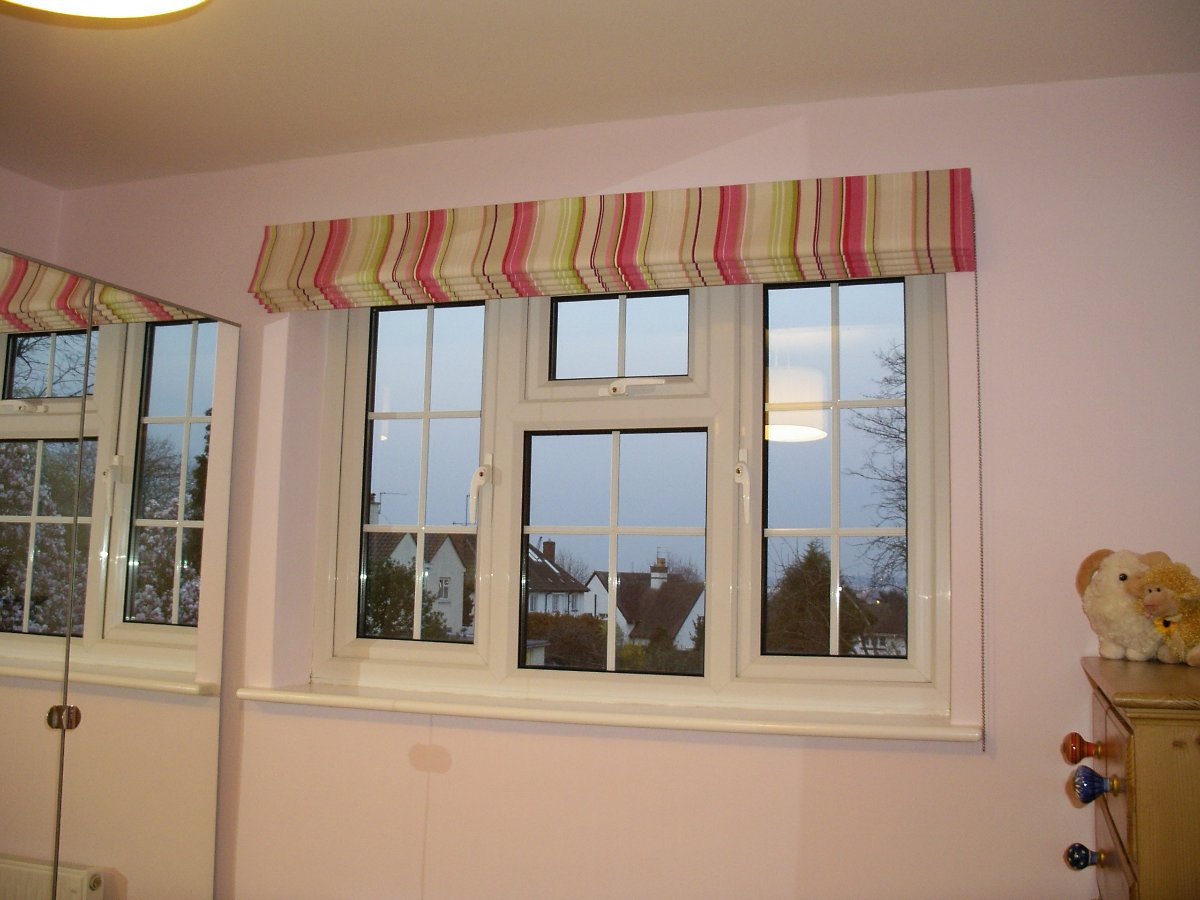 Blackout blind using a colourful John Lewis fabric