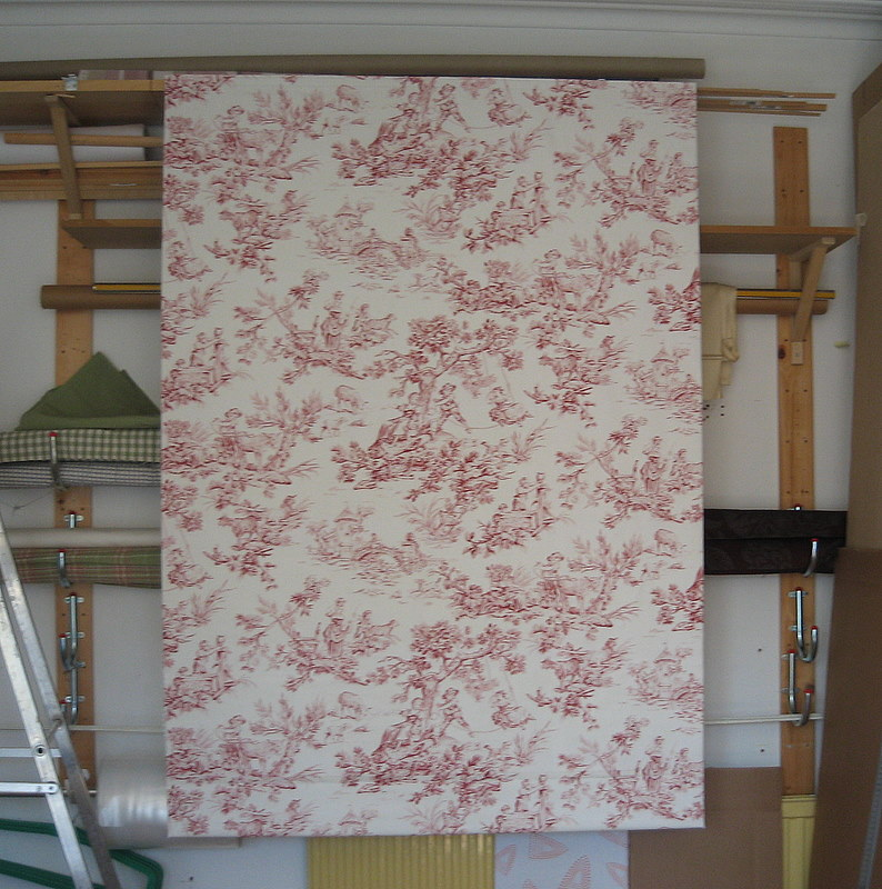 We made this blind 6 years ago and the client moved taking the blind with them, so we added 20 cm across the bottom to lengthen the blind after pattern matching the Toile