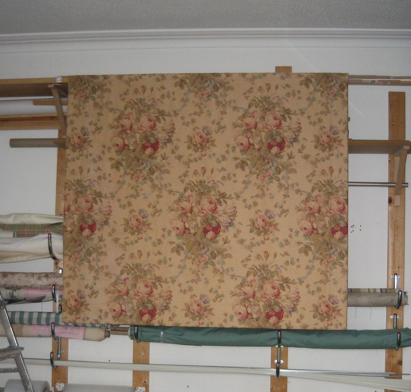 Interlined roman blinds made from a 'beloved' pair of old curtains
