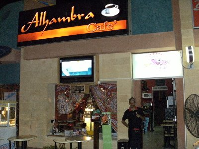 The Alhambra Cafe with their friendly staff