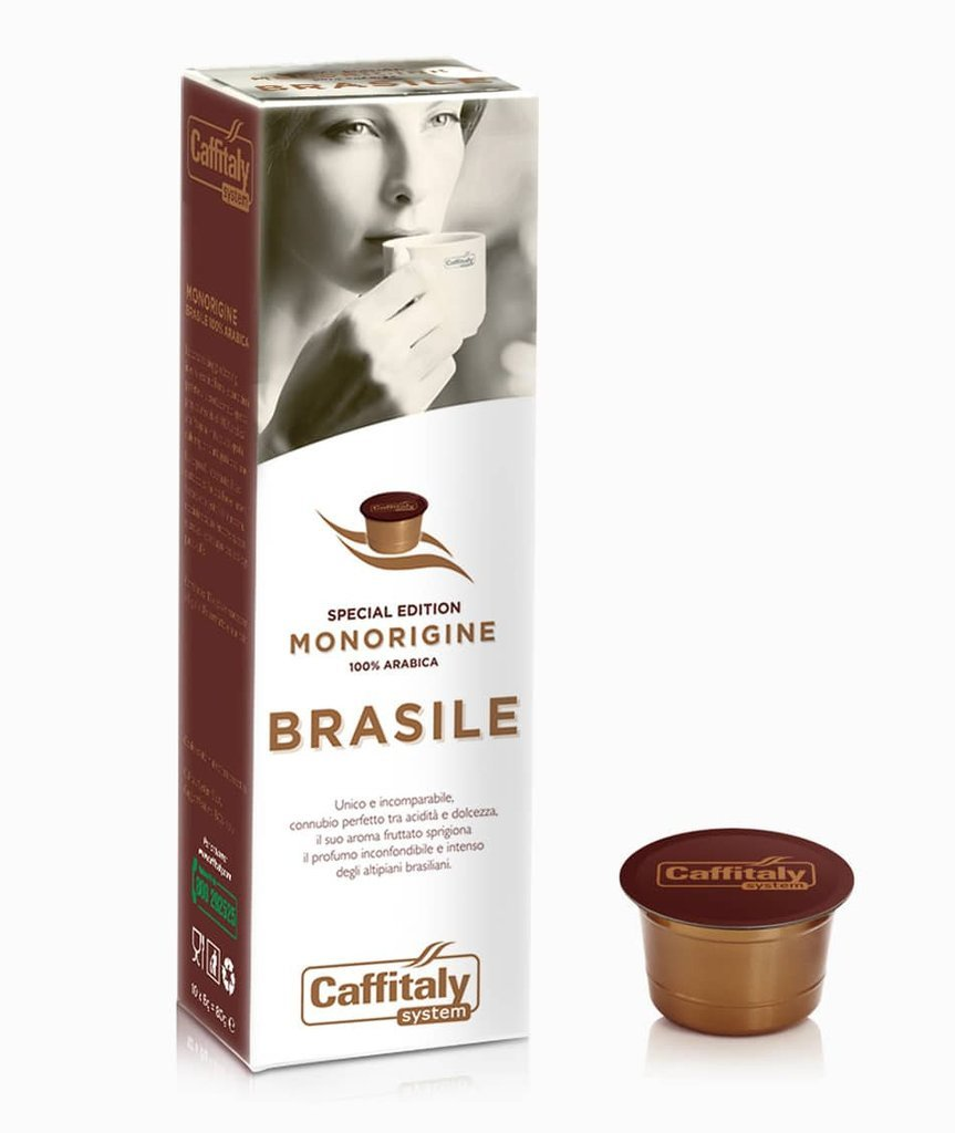 CAFFITALY ECAFFE BRASILE COFFEE CAPSULES -100 CAPSULES- FREE UK DELIVERY