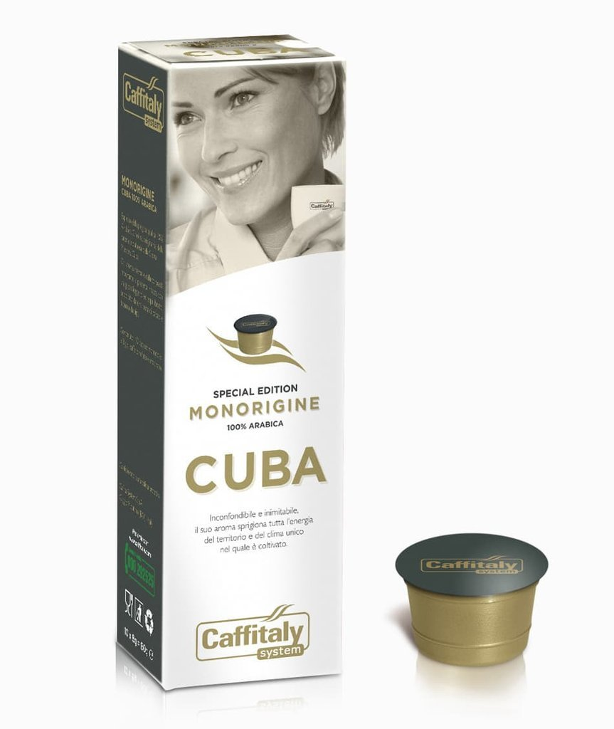 CAFFITALY ECAFFE CUBA COFFEE CAPSULES -100 CAPSULES- FREE UK DELIVERY