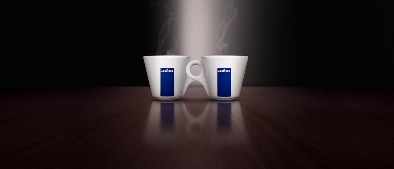 Lavazza Ancap China cups - Saucers - Espresso Size - FREE DELIVERY WITHIN THE UK ONLY