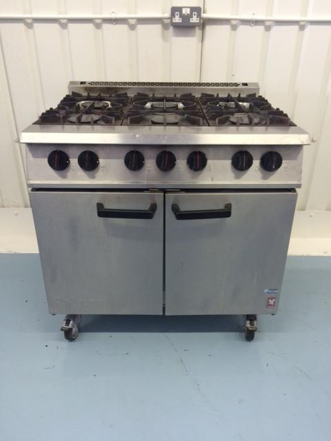 Falcon Dominator 6 burner gas cooker