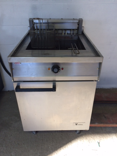 Falcon single tank twin basket electric fryer