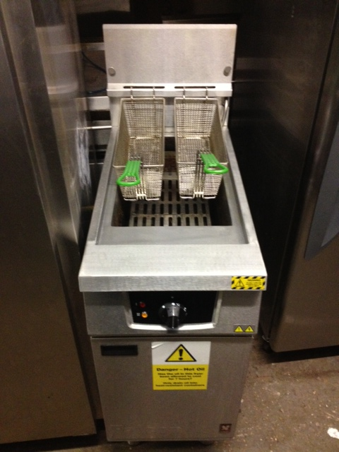 Falcin single tank twin baskte high efficiancy gas fryer
