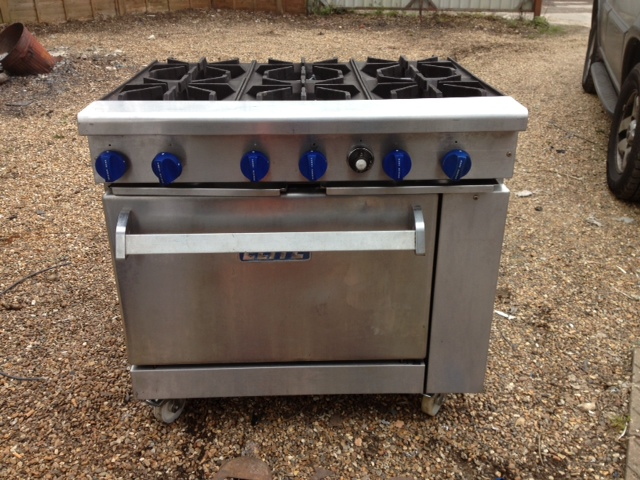 Imperial Elite 6 burner gas cooker