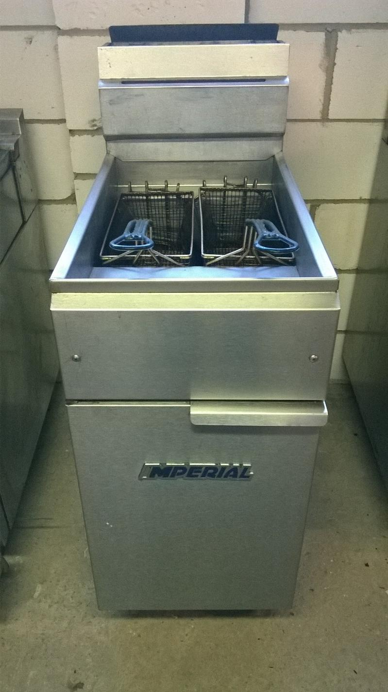 Imperial IFS40 single tank twin basket fryer