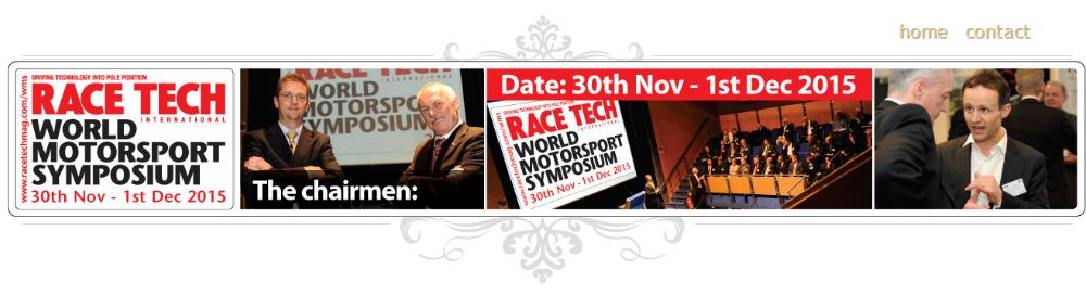 World Motorsport Symposium Racing Engine Racecar Aerodynamics Vehicle Dynamics